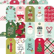 Tags Paper - Holly Days - Simple Stories