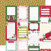Journal Elements Paper - Holly Days - Simple Stories