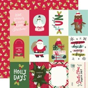 3x4 Elements Paper - Holly Days - Simple Stories