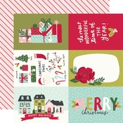 4x6 Elements Paper - Holly Days - Simple Stories