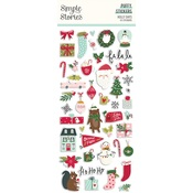 Holly Days Puffy Stickers - Simple Stories