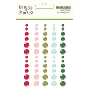 Holly Days Enamel Dots - Simple Stories