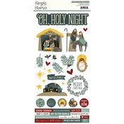 Oh, Holy Night - 6x12 Cardstock Sticker - Simple Stories - PRE ORDER