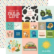 2x2 & 4x4 Elements Paper - Homegrown - Simple Stories - PRE ORDER