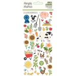 Homegrown Puffy Stickers - Simple Stories