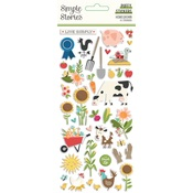 Homegrown Puffy Stickers - Simple Stories - PRE ORDER