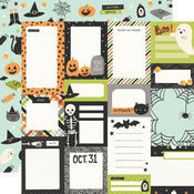 Journal Elements Paper - Spooky Nights - Simple Stories