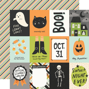 3x4 Elements Paper - Spooky Nights - Simple Stories