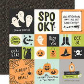 2x2/4x4 Elements Paper - Spooky Nights - Simple Stories