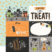 4x6 Elements Paper - Spooky Nights - Simple Stories