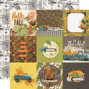 4x4 Elements Paper - Simple Vintage Country Harvest - Simple Stories