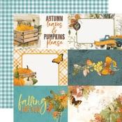 4x6 Elements Paper - Simple Vintage Country Harvest - Simple Stories - PRE ORDER