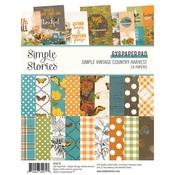 Simple Vintage Country Harvest 6x8 Pad - Simple Stories