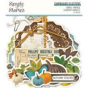 Simple Vintage Country Harvest Chipboard Clusters - Simple Stories