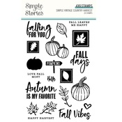 Simple Vintage Country Harvest Clear Stamps - Simple Stories - PRE ORDER