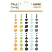 Spooky Nights Enamel Dots - Simple Stories