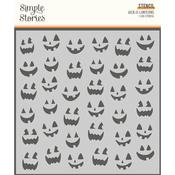 Spooky Nights 6x6 Stencil Jack-O-Lanterns - Simple Stories