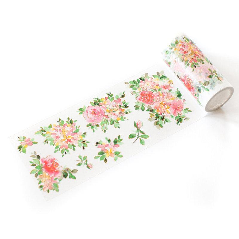Hydrangea And Rose Washi Tape - Pinkfresh - Pinkfresh Studio - June 2021