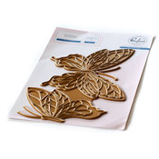 Butterflies Hot Foil Plate - Pinkfresh