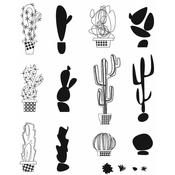 Mod Cactus Tim Holtz Cling Stamps