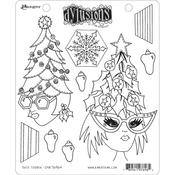 Tree Topper Dyan Reaveley's Dylusions Cling Stamp