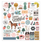 Market Square Chipboard Stickers - Maggie Holmes