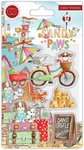 Sand Castle Clear Stamps - Sandy Paws - Craft Consortium