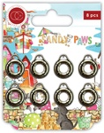 Silver Life Rings Metal Charms - Sandy Paws - Craft Consortium