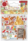 Sandy Paws Wooden Shapes - Craft Consortium - PRE ORDER