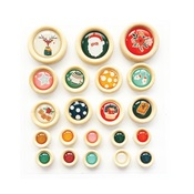 Cozy Christmas Wood Buttons - Fancy Pants - PRE ORDER