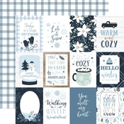 Journaling 3X4 Cards Paper - Winter - Echo Park