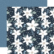 Frosted Floral Paper - Winter - Echo Park