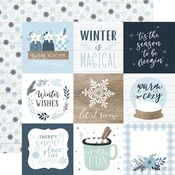 Journaling 4X4 Cards Paper - Winter - Echo Park