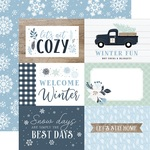 Journaling 6X4 Cards Paper - Winter - Echo Park