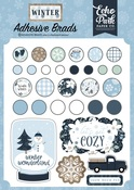 Winter Adhesive Brads - Echo Park - PRE ORDER