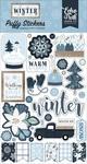 Winter Puffy Stickers - Echo Park