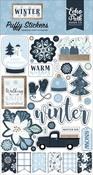 Winter Puffy Stickers - Echo Park - PRE ORDER
