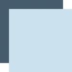 Light Blue / Dark Blue Coordinating Solid Paper - Winter - Echo Park