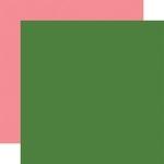 Green / Pink Coordinating Solid Paper - Animal Kingdom - Echo Park