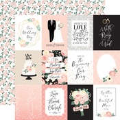 Journaling 3X4 Cards Paper - Wedding - Echo Park