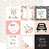 Journaling 4X4 Cards Paper - Wedding - Echo Park