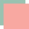 Dark Pink / Light Green Coordinating Solid Paper - Wedding - Echo Park