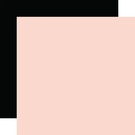 Light Pink / Black Coordinating Solid Paper - Wedding - Echo Park