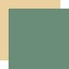 Dark Green / Yellow Coordinating Solid Paper - Wedding - Echo Park