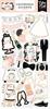 Wedding 6x13 Chipboard Accents - Echo Park