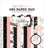 Wedding 6x6 Paper Pad - Echo Park