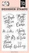 Our Wedding Stamp Set - Wedding - Echo Park - PRE ORDER