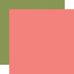 Pink / Green Coordinating Solid Paper - Day In The Life - Echo Park