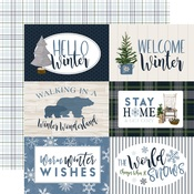 Journaling 6X4 Cards Paper - Welcome Winter - Carta Bella