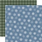 Blue Blizzard Paper - Welcome Winter - Carta Bella - PRE ORDER